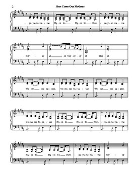 Here Come Our Mothers - Sheet Music