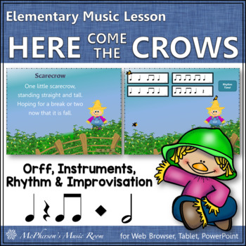 Here Come the Crows: Orff, Rhythm, Form and Instruments (eighth or half notes)