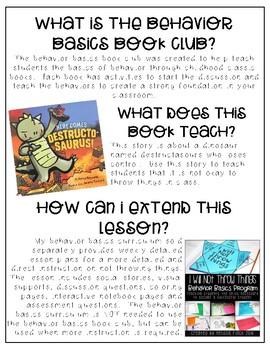 Here Comes Destructosaurus!- Behavior Basics Book Club