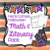 Here Comes Halloween Math & Literacy Pack | NO PREP
