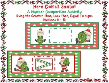 Here Comes Santa! A Number Comparison Activity   More Than