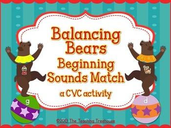 Circus Beginning Sounds Activity