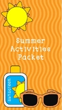 Here Comes Summer Activity Packet