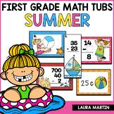 First Grade Math Centers-Summer