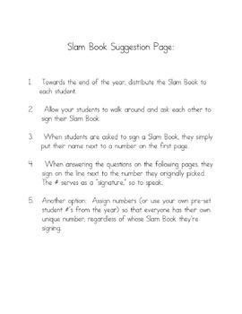 Slam Book {Old School Memory Book}
