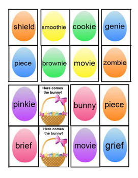 Here Comes the Bunny -y and -ie Phonics Game