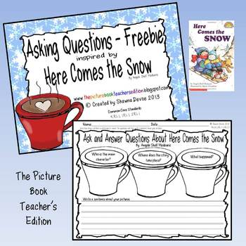 Asking Questions Freebie inspired by Here Comes the Snow