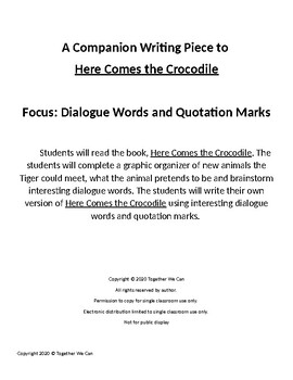 Here Comes the Tiger - Companion Writing Focus: Dialogue Words & Quotation Marks