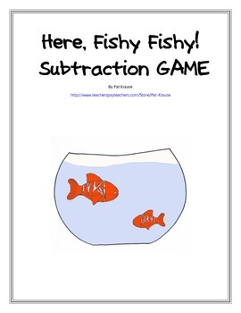Here, Fishy Fishy!  Subtraction GAME