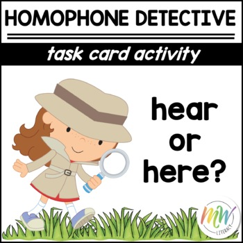Here & Hear: Homophone Task Cards