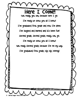 Here I Come First Grade Poem By Little Miss Kindergarten