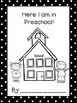 Here I am in Preschool! - Monthly Name Writing and Drawing Assessment