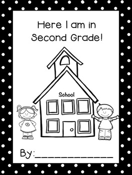 Here I am in Second Grade! - Monthly Drawing/Writing Assessment