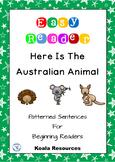 Here Is The Australian Animal Patterned Sentences For Beginning Readers