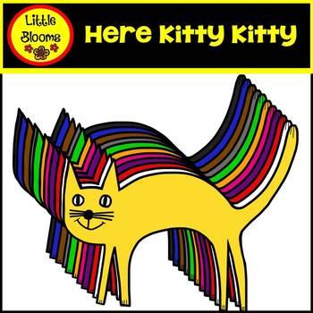 Here Kitty Kitty Cat Clip Art