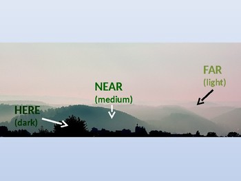 Here, Near, and Far Atmospheric Perspective Art PPT