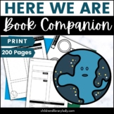 Here We Are by Oliver Jeffers Graphic Organizer Companion Pack