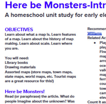 Here be Monsters! An Introduction to Maps