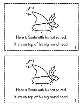 Here is Santa- Christmas Rhyming Emergent Reader