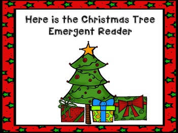Here is the Christmas Tree Emergent Reader Freebie