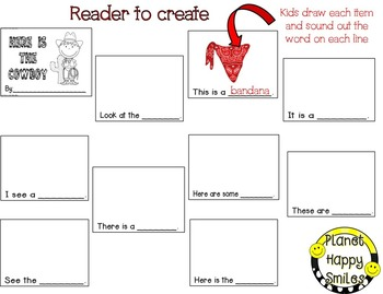 Cowboy Reading and Writing Activity ~ Here is the Cowboy