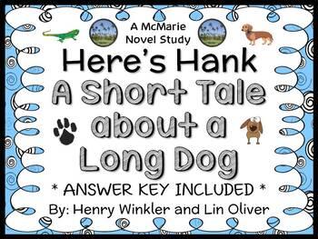 Here's Hank: A Short Tale about a Long Dog (Winkler) Novel Study / Comprehension