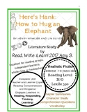 """""""Here's Hank:How to Hug an Elephant"""" Novel Study by Henry Winkler and Lin Oliver"""