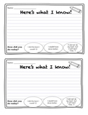 Here's What I Know (Exit Ticket)