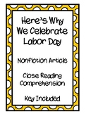 Here's Why We Celebrate Labor Day - Reading Comprehension