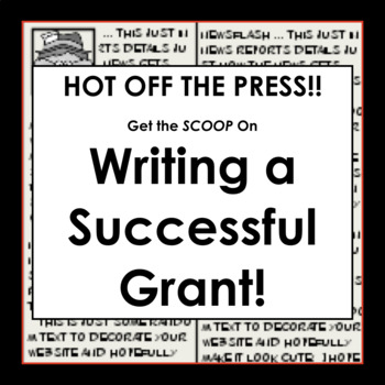 Here's the SCOOP on Writing a Successful Grant!