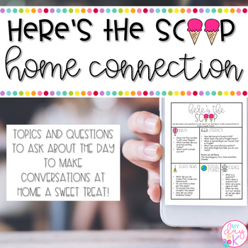 Here's the Scoop Home Connection Newsletters (Editable)