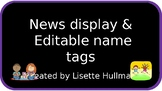 Here's the Scoop with editable name tags