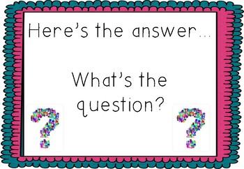 Here's the answer - Whats the question?