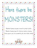 Here there be MONSTERS!--Schedule cards and center signs