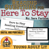 Here to Stay by Sara Farizan Reading Questions