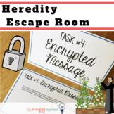 Heredity & Pedigree Activity. Genetics Escape Room. Editable