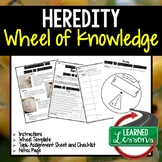 Heredity Activity, Wheel of Knowledge Interactive Notebook