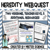 Heredity Genetics traits webquest 6 7 8th jr high Texas TE