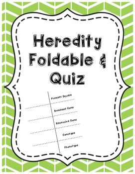 Heredity Foldable & Quiz