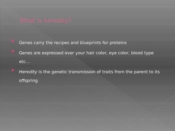 Heredity- Genetic variation, types of inheritance