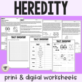 Heredity - Guided Reading + Worksheets - PDF & Digital Versions