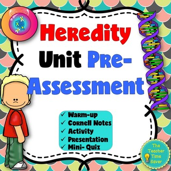Heredity Warm-ups Printable Activity | Distance Learning