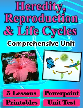 Heredity, Reproduction and Life Cycles Unit - 5 Lessons, P