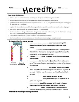 Heredity Students' Notes