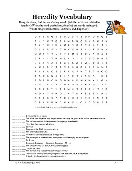 Heredity - Two Word Searches to Practice and Review Vocabulary
