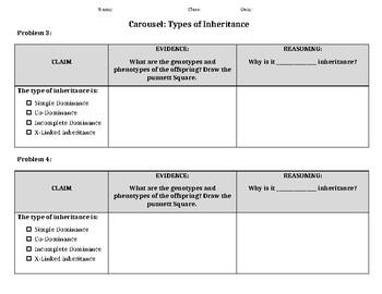 Heredity: Types of Inheritance Evidence/Reasoning Game