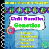 Heredity/Genetics Unit Bundle (notes, projects, presentations, and assessments)