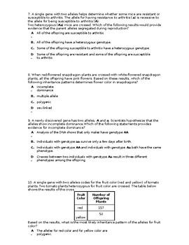 Heredity Unit Exam