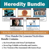 Heredity Unit - Genetics Unit (Five 90min Lesson Bundle with Assessment)