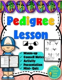 Heredity Unit: Pedigree Lesson (Presentation, notes, and activity)